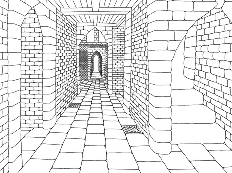 Dungeon (lineart) by MartchZagorski