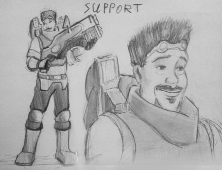 Support sketch by spaceMAXmarine