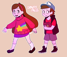 Miss Madel and Dipper by KoalaPawns