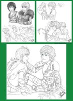 Jack And Hiccup Sketches by Laven96