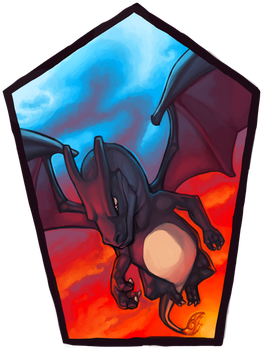 Pokemon Icon Commission #8: Shiny Charizard by toshema