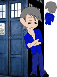 Doctor Who-Themed hatchilng for MoonRose384 by RoseandherThorns