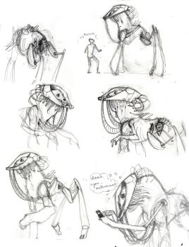Ro-Man Sketches by pieceofsleep