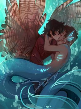 Kiss Kiss Drown at Sea by Elentori