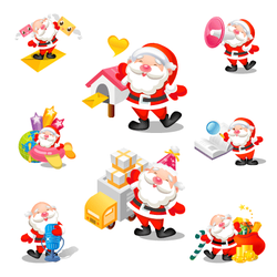 Santa icons by mid-nights