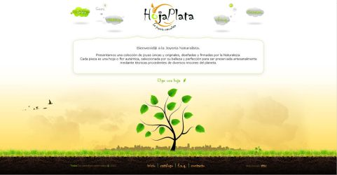 HojaPlata website - Natural jewelry by dnb-nOise