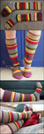 Doctor Who Knee Socks by ThePeculiarMissE