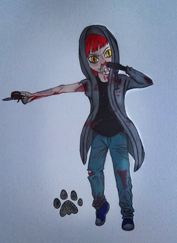 30 characters challenge : #9. Psychopath fighter by Kitten-Draws