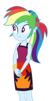 EQG Series - Rainbow Dash in resort party wear by ilaria122