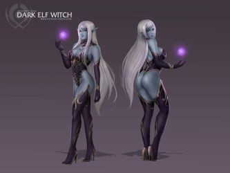 Dark Elf Witch by Felox08