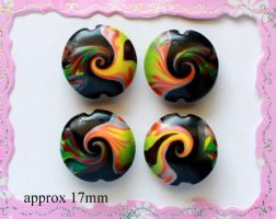 Polymer Clay Beads 99 by snowskin
