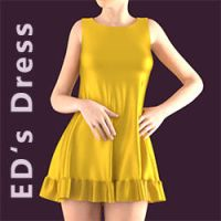 Freebie: ED's Dress for G2F by Edheldil3D