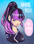 Thank you for 300+ (Cute Yukio) by PixelationGirl