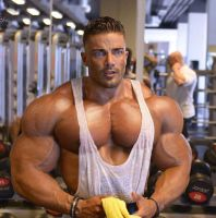 Showing off that chest by resonancegym