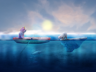 Photomanipulation | My sister alone by Goldow