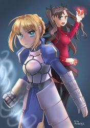 Saber and Rin by Pistachii