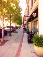 Small Town Sidewalk - Oil Paint Filter by Dr-Pen
