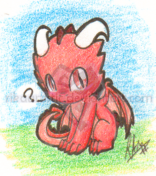 .:Wed Dwagon:. Dragon Chibi by RikaArtistic