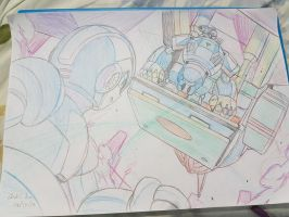 Megaman X Highway Scene 1 (sketch) by innovator123