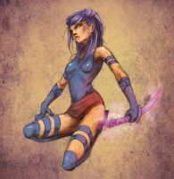 psylocke chillin by AlivanArt