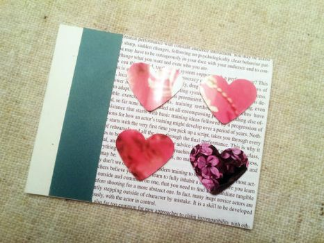 Paper Hearts Valentine Card by CelidahD