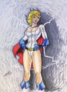 Power girl Jim Lee by jimcrilley