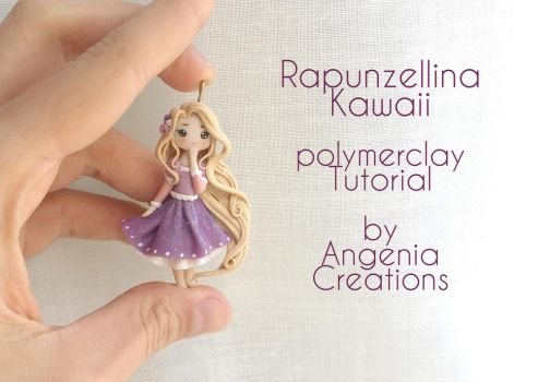 Rapunzel kawaii in polymerclay tutorial by AngeniaC