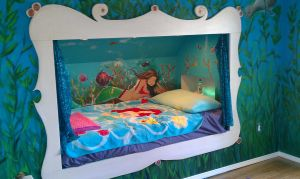 Mural art for a client- Mermaid and Sea Scape by Billy68