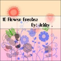 10 Flower Brushes by Johhy