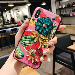 Tropical Fruit Embellished Bling iPhone Case by sonpetter