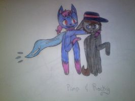 Pimp and Rocky's meeting by Illiterate-Swine