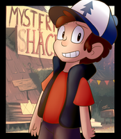 Gift: Dipper by BaconBloodFire