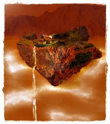 Floating Island -Autumn- by Alunethia