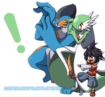 Pokemon x Yotsubato Crossover by Mgx0