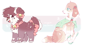 + sweet puppers || adopts auction (closed)+ by MellowKun