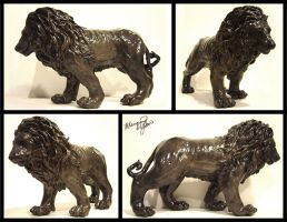 Lion Sculpture by yuumei