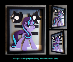 11 x 14 Starlight Glimmer Shadowbox by The-Paper-Pony