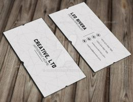 White Minimal Business Card by GreyFoxGR