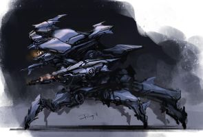 daily mech painting by ProgV