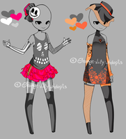Auction - Halloween Outfits  [CLOSED] by Orange-Lily-Adopts