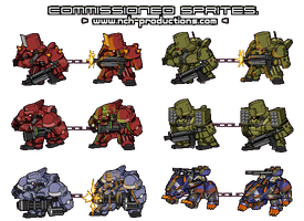 Mech sprites freelance by NCH85