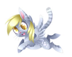 Derpy Kitten + Speedpaint by Scarlet-Spectrum