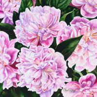 Watercolor Peonies by LikaKinsky