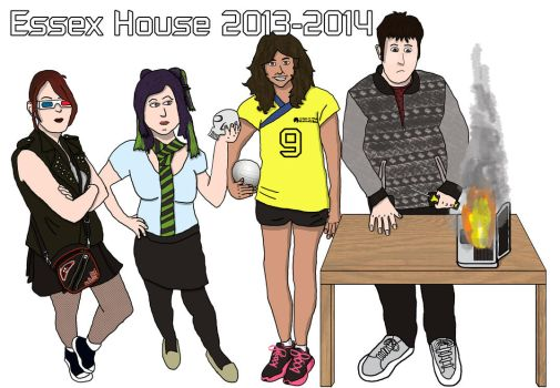 Essex House Flatmates 2013-2014 by Cathartis