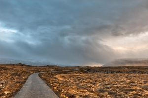 Glowing Godafoss Fog Trail by somadjinn