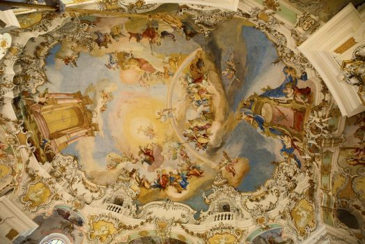 Vies church ceiling. by Phototubby