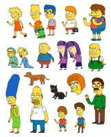 Simpsons drawn from memory by Teagle
