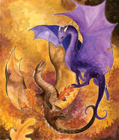 Autumn Dragons by persian-pirate