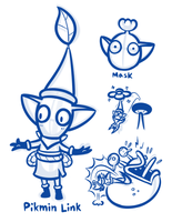 Link's New Mask Challenge - Pikmin Link by JamesmanTheRegenold