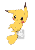 Kawaii Pikachu by ShihonRainbow